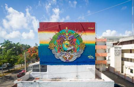 Hongikurisea, Sea Walls: Artists for Oceans Street art festival Cancun, Mexico 2017. Photo Credit The stills Agency.