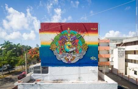 Hongikurisea, Sea Walls: Artists for Oceans Street art festival Cancun, Mexico 2017. Photo Credit The stills Agency.