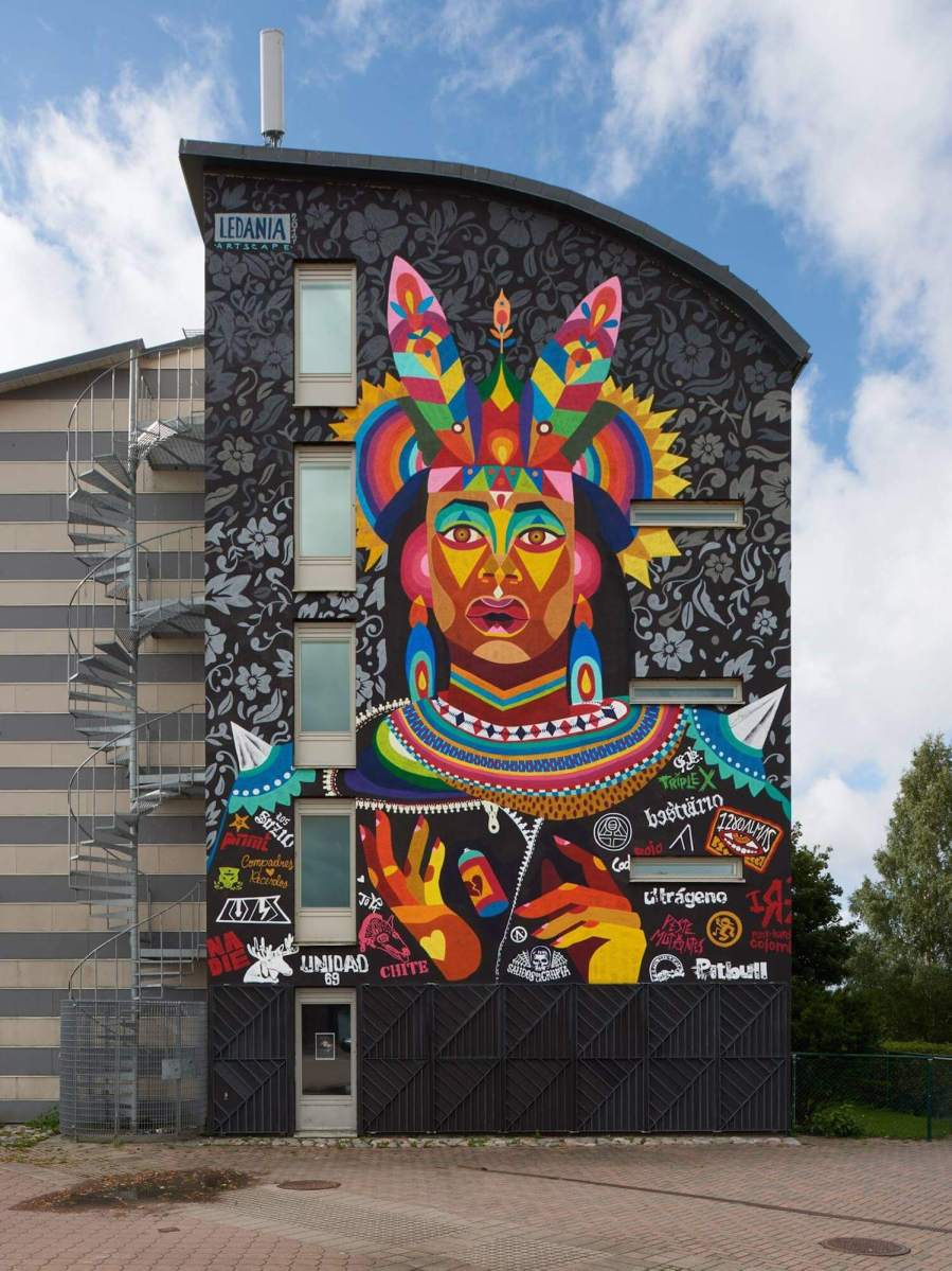 Ledania, Artscape Street Art Festival, White Moose Project, Sweden 2017. Photo Credit Anders Lipkin.