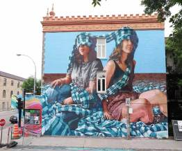 Fintan Magee, Mural International Public Street Art Festival, Montreal, Canada 2017. Photo credit Daniel Weintraub.