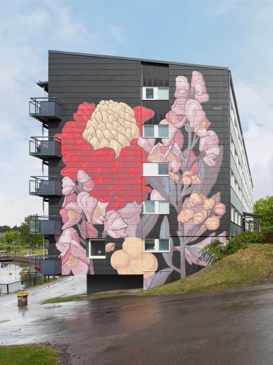 artscape u0027s white moose street art project in värmland sweden 2017