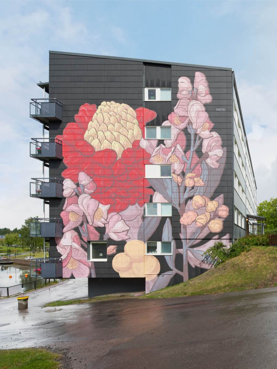 Pastel, Artscape Street Art Festival, White Moose Project, Sweden 2017.