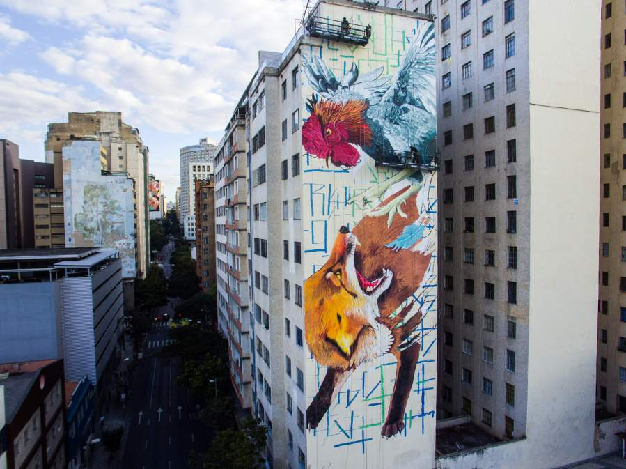 Thiago Mazza, CURA Street Art Festival, Belo Horizonte, Brazil 2017. Photo Credit Instagrafite