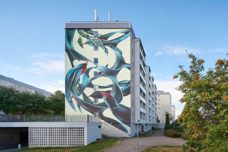 Pantonio, Artscape Street Art Festival, White Moose Project, Sweden 2017. Photo credit Anders Lipkin.