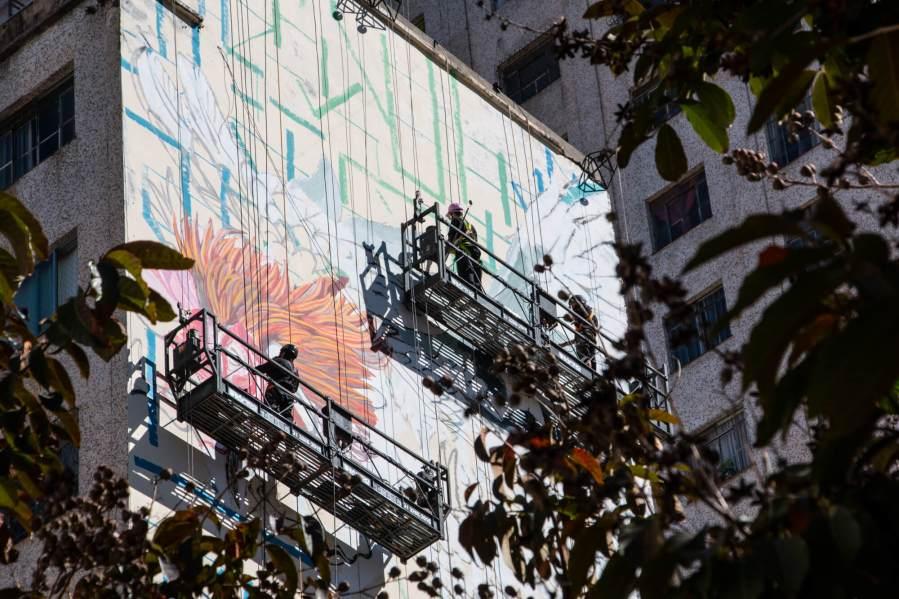 CURA Street Art Festival, Belo Horizonte, Brazil 2017. Photo Credit Instagrafite