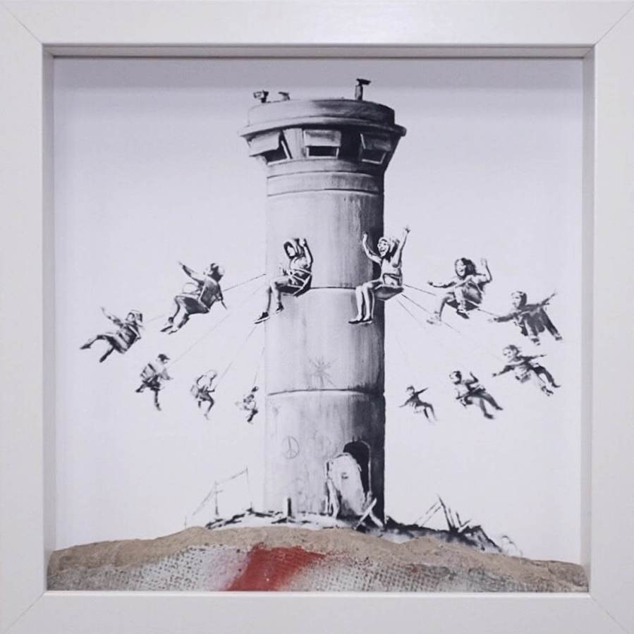 Banksy, The Walled Off Hotel, Bethlehem, Gift Shop. Photo Credit Banksy