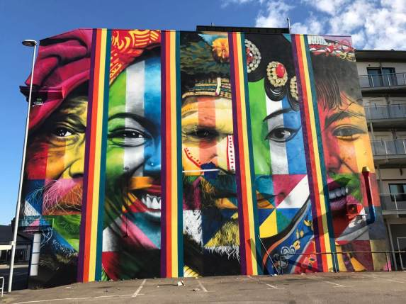 Kobra, Art for All in the World, Street Art Project, Sandefjord Norway 2017. Photo Credit Art for All in the World.