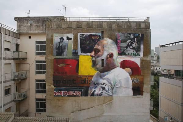 Sebas Velasco, FestiWall Street Art Festival, Ragusa, Sicily 2017. Photo Credit Sebas Velasco