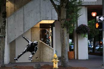 Blek le Rat, 20x21EUG Mural project, Downtown Eugene 2017. Photo Credit Athena Delene
