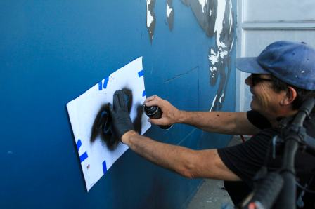 Blek le Rat, 20x21EUG Mural project, Tacovore, Eugene 2017. Photo Credit Athena Delene
