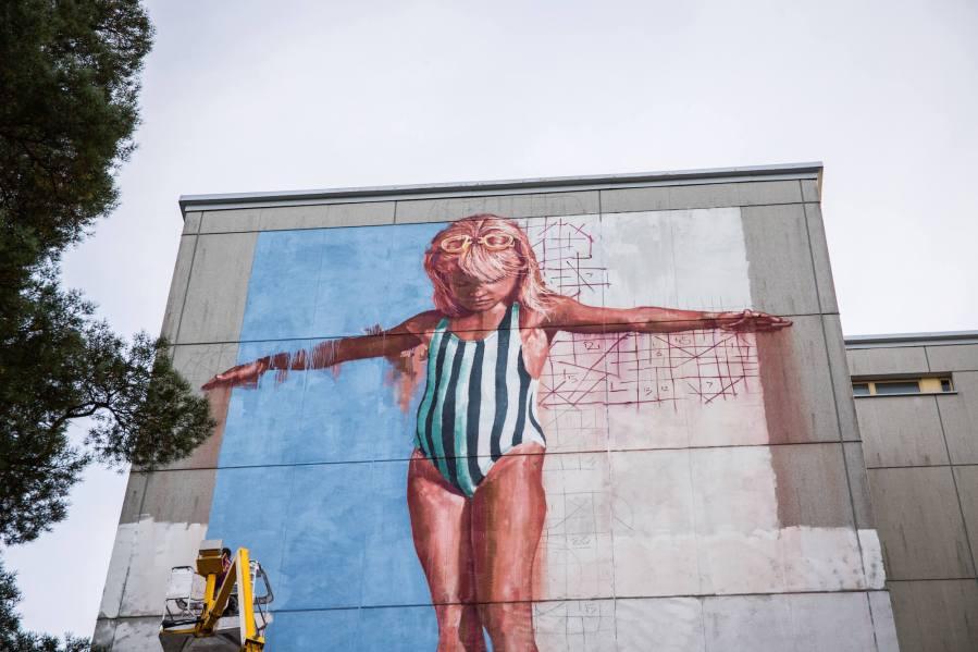 Fintan Magee, UPEA Street Art Festival, Finland. Photo Credit Anna Vlasoff.