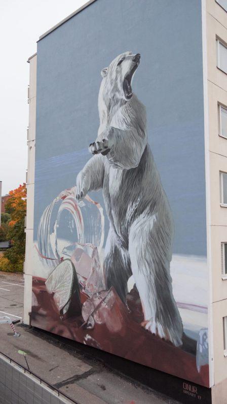 Onur, UPEA Street Art Festival, Finland 2017. Photo Credit UPEA