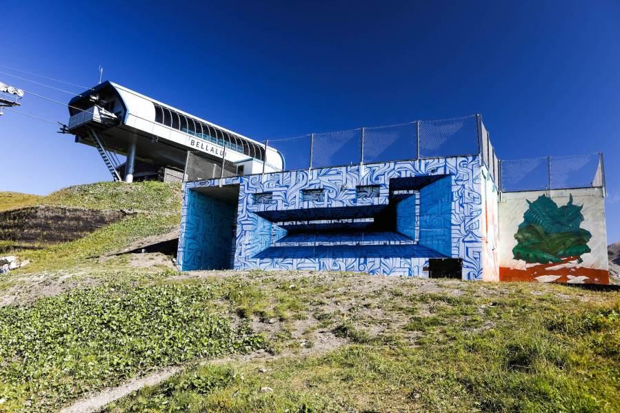 Astro, Vision Art Festival, Crans-Montana Ski Resort, Switzerland 2017. Photo Credit Sam Norval