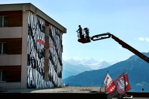 David de la Mano, Vision Art Festival, Crans-Montana Ski Resort, Switzerland 2017. Photo Credit Julie Strasser.