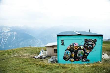 Louis Masai, Vision Art Festival, Crans-Montana Ski Resort, Switzerland 2017. Photo Credit Sam Norval