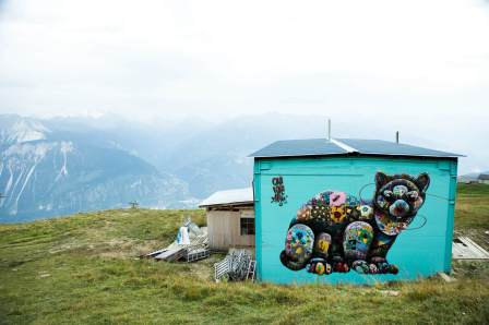 Louis Masai, Vision Art Festival, Crans-Montana Ski Resort, Switzerland 2017. Photo Credit Sam Norval