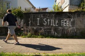Know hope, Nuart Street Art Festival, Stavanger, Norway 2017. Photo credit Ian Cox