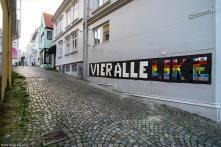 Carrie Reichardt, Nuart Street Art Festival, Stavanger, Norway 2017. Photo credit Ian Cox