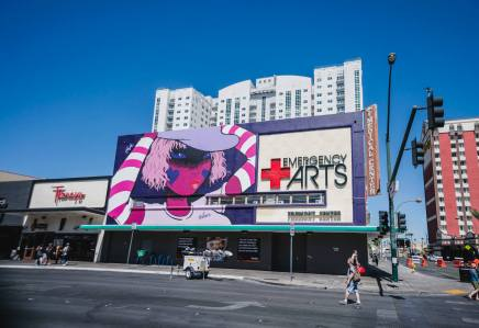 Fafi, Life is Beautiful, Urban Art Festival, Downtown Las Vegas 2017. Photo Credit Justkids