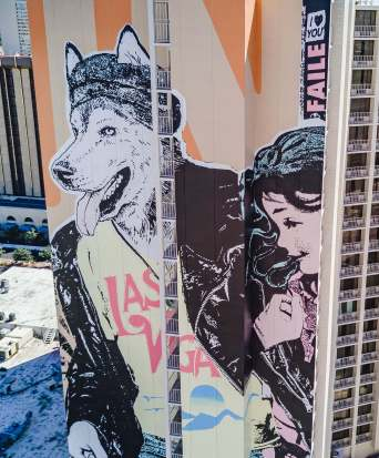 Faile, Life is Beautiful, Urban Art Festival, Downtown Las Vegas 2017. Photo Credit Justkids