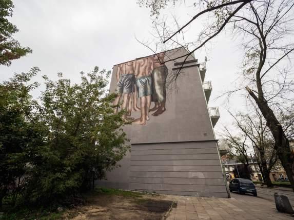 Hyuro, Lodz 4 Cultures, Urban Art Festival 2017. Photo Credit Mikołaj Zacharow