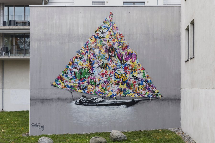 Picture of Martin Whatson's mural Nuart 2017