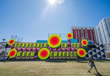 Morag Myercough, Life is Beautiful, Urban Art Festival, Downtown Las Vegas 2017. Photo Credit Justkids