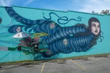 Lauren YC, SHINE st Petersburg Street Art Festival, Florida 2017. Photo Credit Iryna kanishcheva