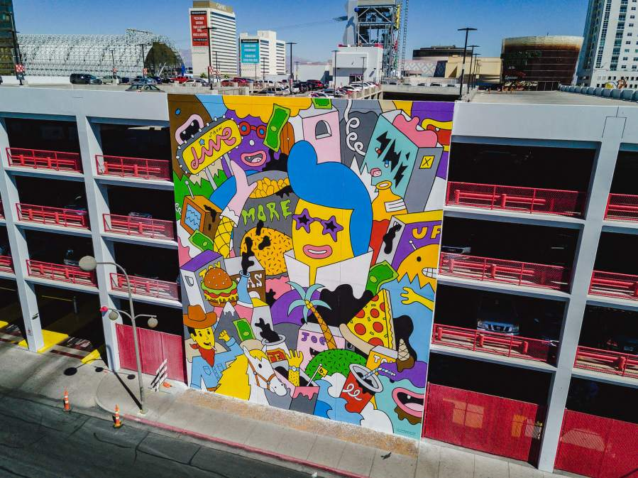 Thisismyb, Life is Beautiful, Urban Art Festival, Downtown Las Vegas 2017. Photo Credit Justkids