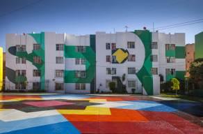Boa Mistura latest street art 'NIERIKA' in Guadalajara, Mexico 2017. Photo Credit Boa Mistura