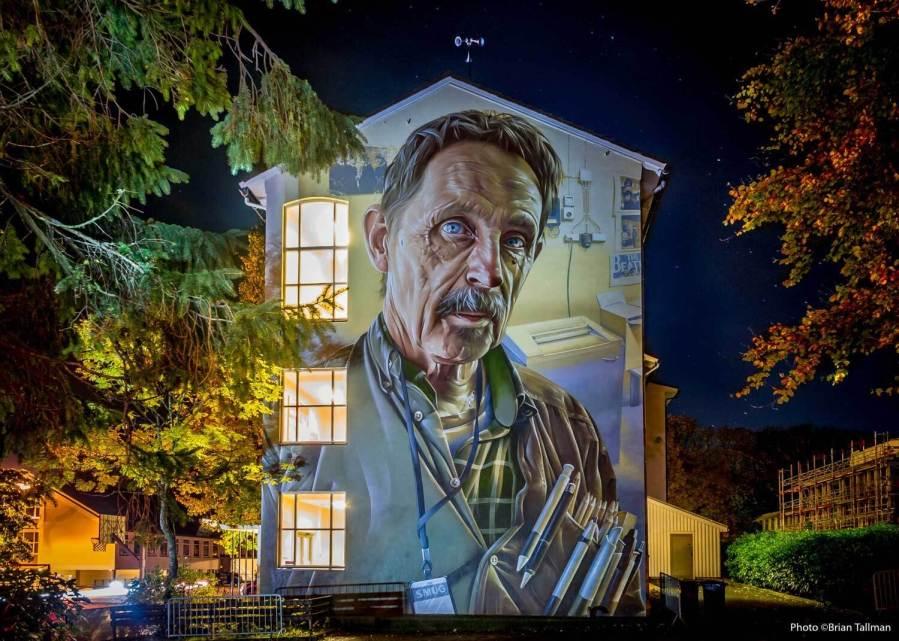 Smug and Nuart, Street art Attende, Norway 2017. Photo Credit Brian Tallman
