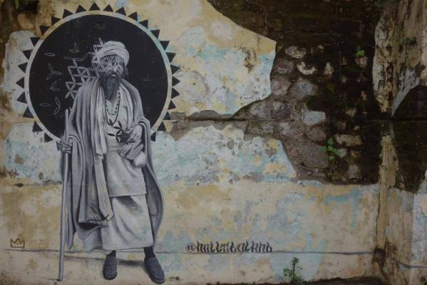 Street Art Riskikesh, India 2017. Photo credit Jessica Beavon.