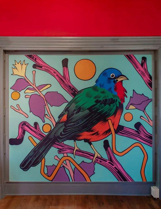 Bicicleta Sem Freio, Green Candy Urban Art, Fayetteville, Arkansas 2017. Photo Credit JustKids