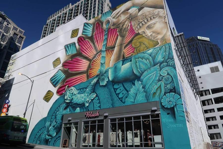 Street artist Beau Stanton, Downtown Nashville.