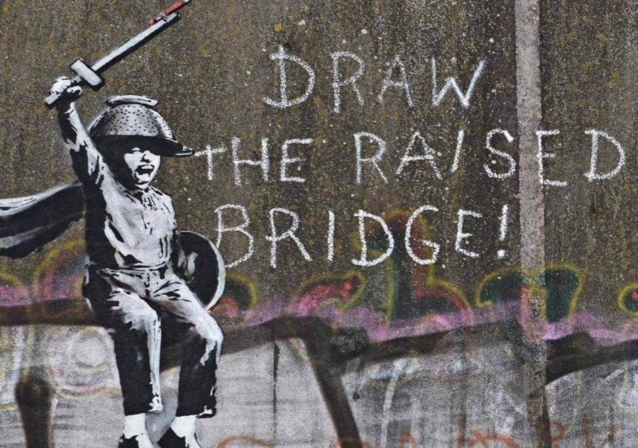 Banksy, Draw the Raised Bridge, Scott Street Bridge, Hull, UK 2018. Photo Credit Banksy