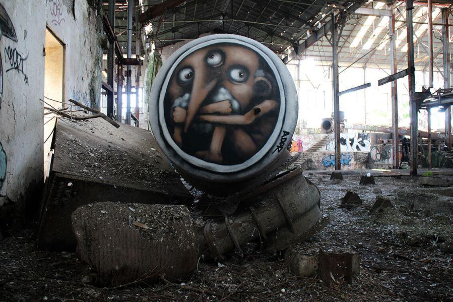 The Machine, Ador, Street Art Réunion. Photo credit Ador 2018