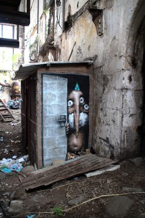Open door, Ador, Street Art Réunion. Photo credit Ador 2018
