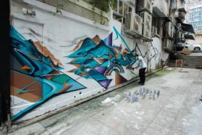 HKWalls Street Art Festival, Hong Kong 2018. Photo Credit Daniel Murray