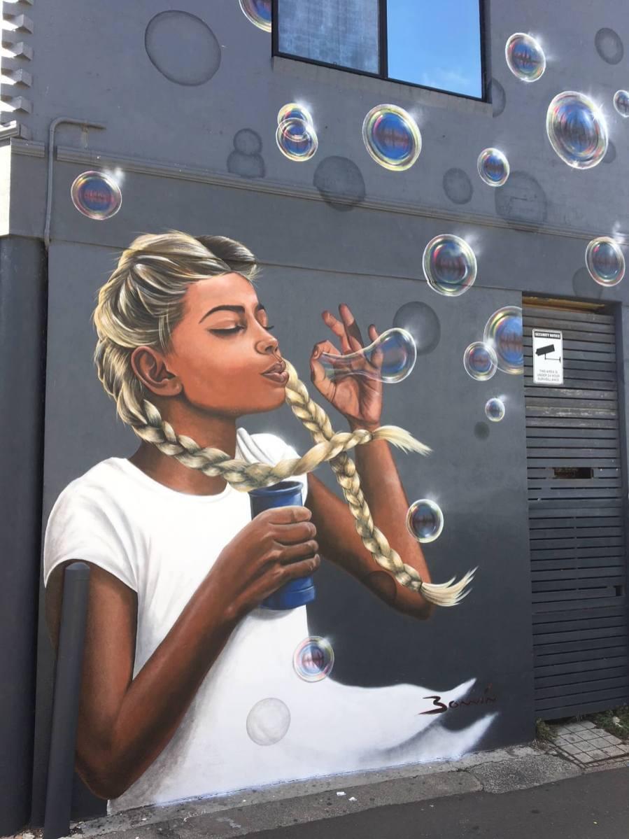 Lucy Bonnin, The Big Picture Fest, Street Art Festival, Frankston, Victoria, Melbourne. Photo Credit @vanstheomega