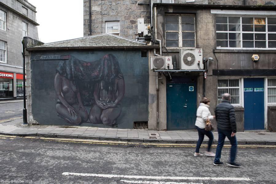 Milu Correch, Nuart Aberdeen Street Art Festival 2018. Photo Credit Ian Cox