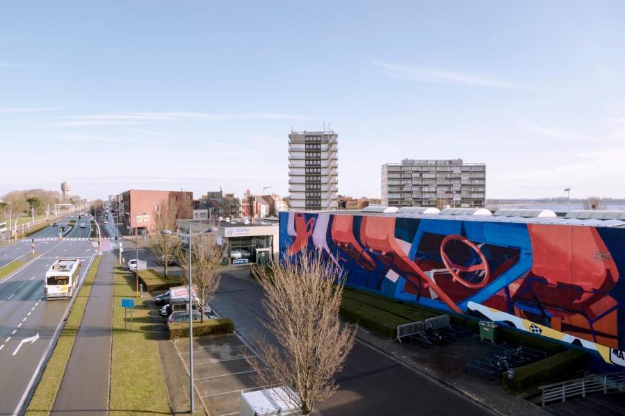 Zoer and Velvet, The Crystal Ship, Urban Art Festival 2018. Photo Credit Henrik Haven