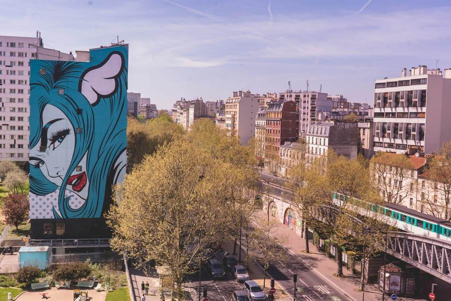 DFace, 'Turncoat', Street Art 13 Project, Paris 2018. Photo Credit Louis Jensen Founder of Tupman Brothers and Spraying Bricks.