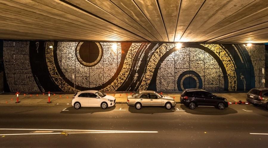 Said Dokins, Brisbane Street Art Festival 2018. Photo Credit Toks Ojo Photography