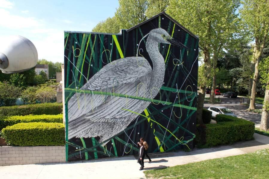 TWOONE, Wall Street Art Festival 2018, Lieusaint, Paris. Photo Credit Galerie Mathgoth