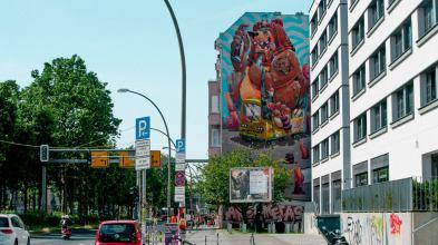 Arsek Erase, Berlin Mural Fest 2018. Photo Credit Berlin Mural Fest