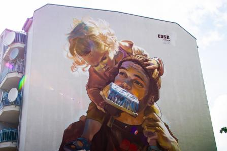 Case Maclaim, Berlin Mural Fest 2018. Photo Credit Berlin Mural Fest
