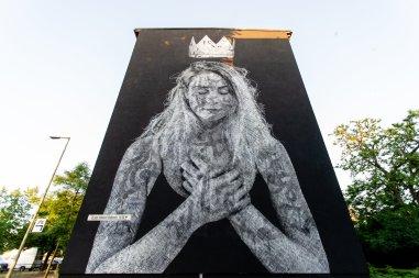 Snik and Nuno Viegas, Berlin Mural Fest 2018. Photo Credit Berlin Mural Fest