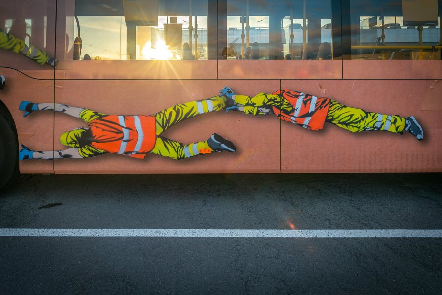 Juane, Street Art Bus, Stavanger 2018. Photo Credit Brian Tallman