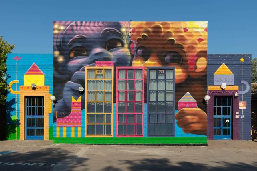 Animalitoland, Asalto Urban Art, Zaragoza 2018. Photo Credit Asalto