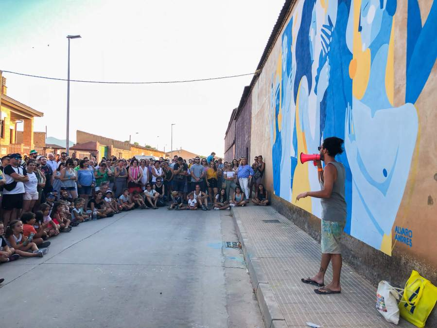 Street Art Tour, Asalto Urban Art Festival, Alfamén 2018. Photo Credit Asalto